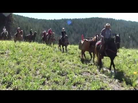 Bearcat Stables 4 Day 55 Mile Horseback Ride from Vail to Aspen. Filmed in HD (Directors Cut)