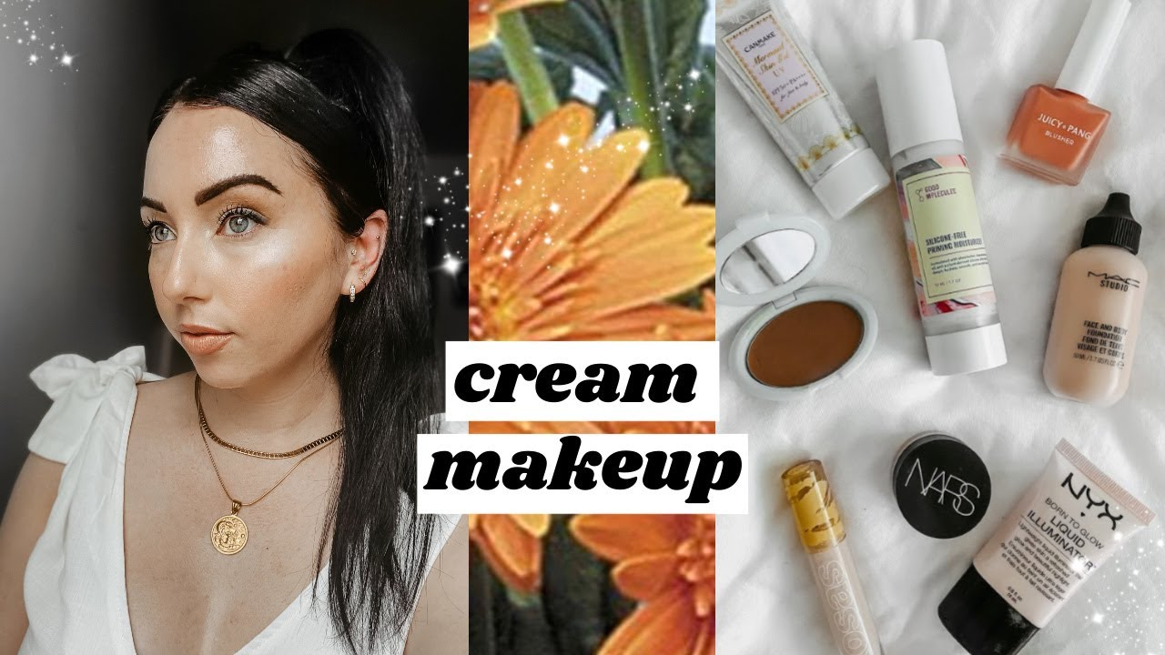 Enhance your Natural Skin Using Only HANDS & CREAM / LIQUID Makeup Routine