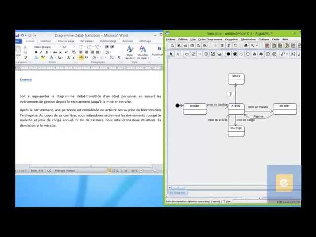 Diagramme d'état-Transition : Exercice 1