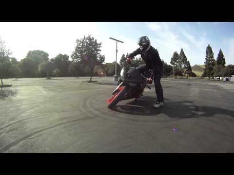 KELLEN LEARNING TO DRIFT A MOTORCYCLE