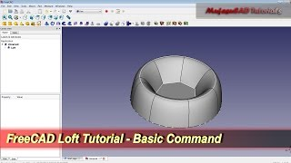 FreeCAD Loft Command | Basic Tutorial