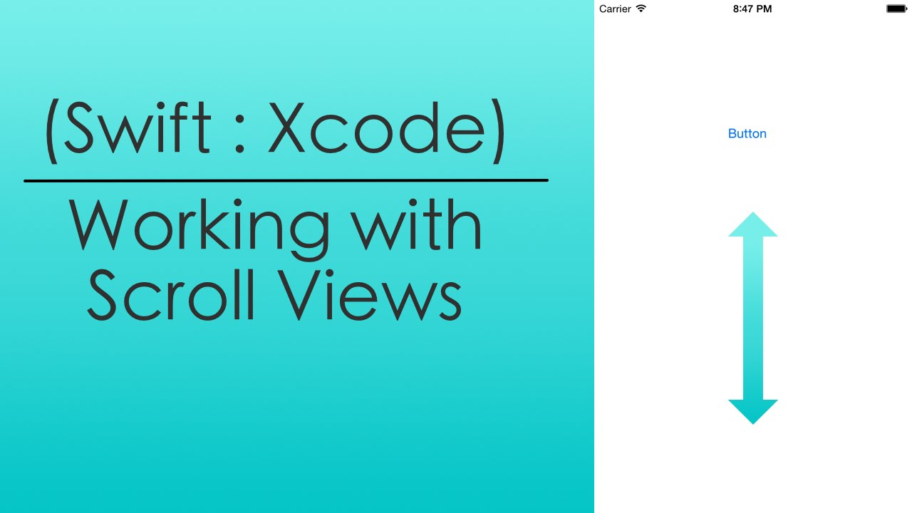 Working with Scroll Views (Swift : Xcode)