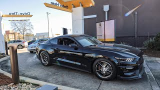 Taking my Drag Car through a McDonald's Drive-Thru! (1,000 Horsepower Mustang)