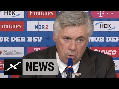 Nach Arbeitssieg: Carlo Ancelotti lobt HSV und Thiago | Hamburger SV - FC Bayern München 0:1