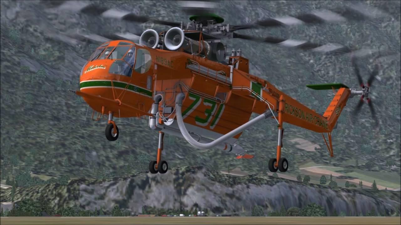 Sikorsky S-64E Erickson Air-Crane Helicopter by MilViz - FSX Steam on