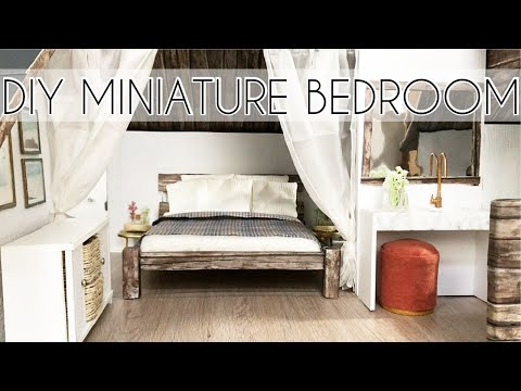 DIY Miniature Bedroom & Bathroom