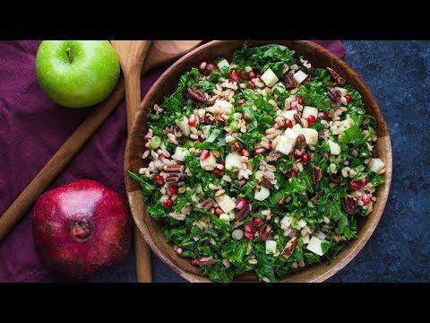 Farro Kale and Pomegranate Salad