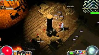 Path of Exile - Vaults of Atziri Map #41 party dual run 2 players