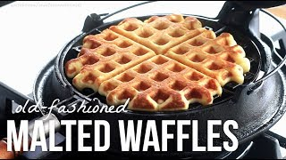 Old-Fashion Waffles on a Cast Iron Waffle Maker!!