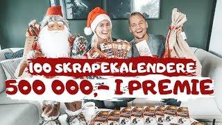 SKRAPER 100 JULEFLAXKALENDERE - 500 000,- i premie!