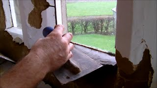 How to repair sandstone sills and  mullions interior built in 1629