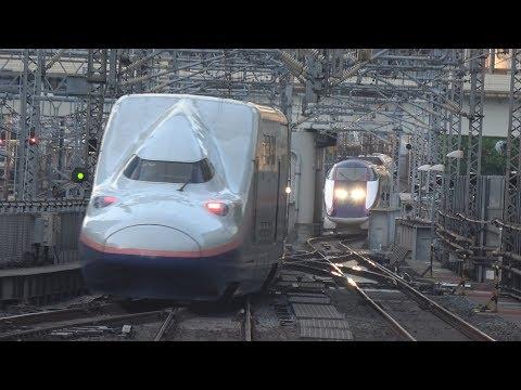 東京駅でダイヤの乱れで入線待機する新幹線を撮ってみた