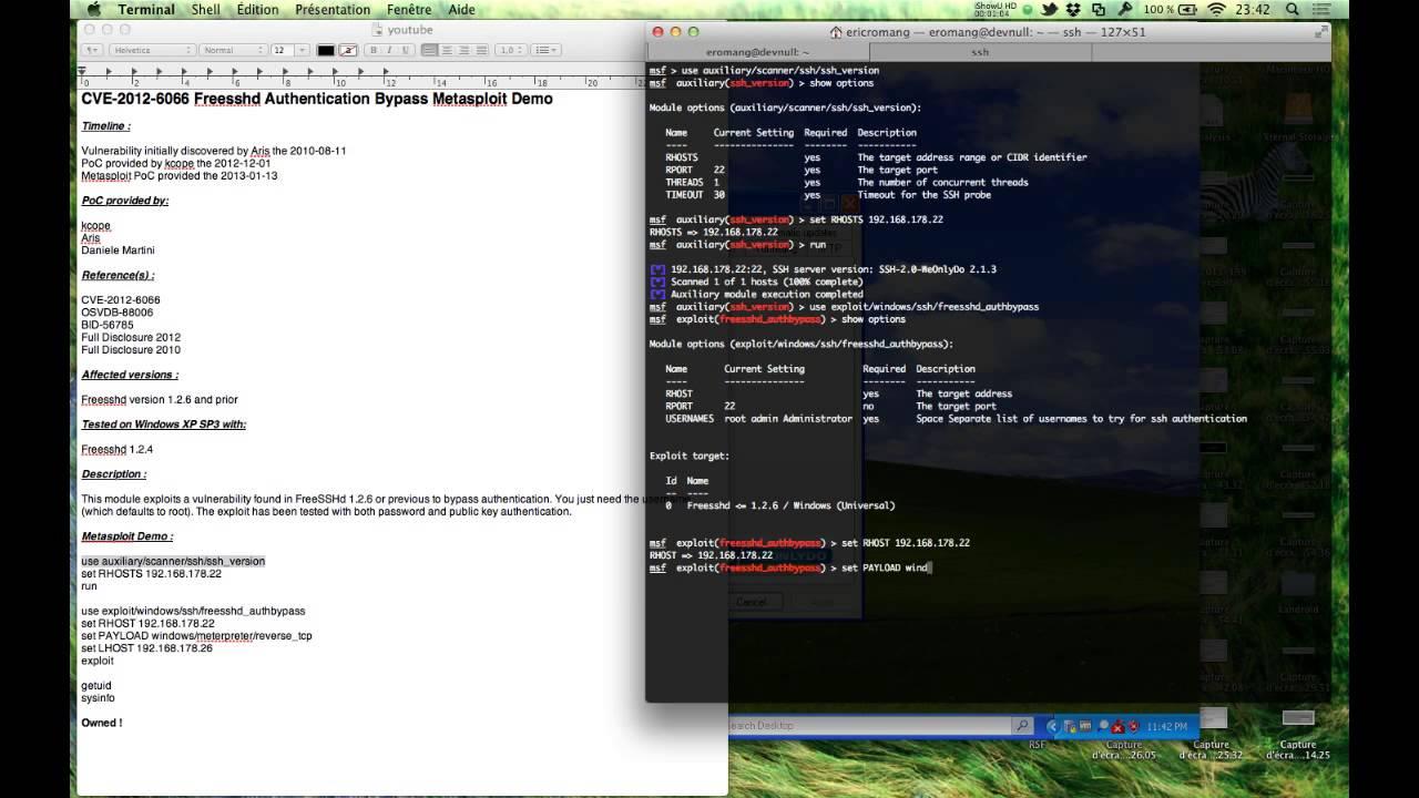 CVE-2012-6066 Freesshd Authentication Bypass Metasploit Demo