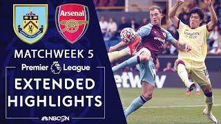 Burnley v. Arsenal | PREMIER LEAGUE HIGHLIGHTS | 9/18/2021 | NBC Sports
