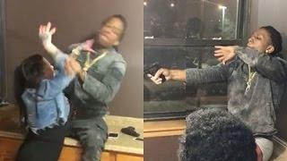 Rico Recklezz Shoots Gun At A Girl! 2 Angles!