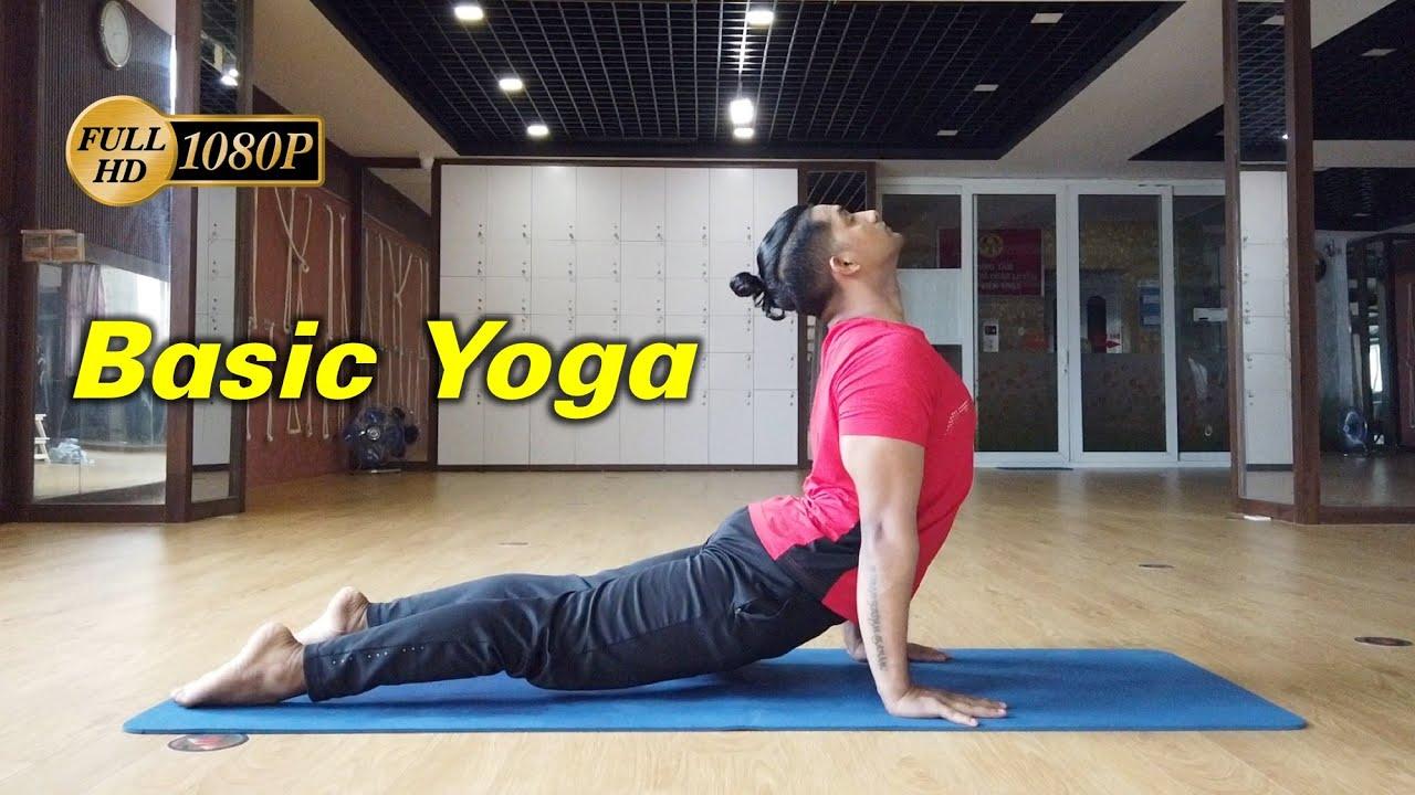 Full 1 Hour Basic Yoga Class For All Level Yoga ...