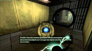 Portal 2 - How to grab Wheatley when you're not supposed to