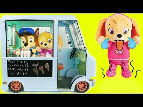 Paw Patrol Ice Cream Truck Refrigerator Fridge Shopping PJ Pig Masks Toddlers Learning Kids Rocks!
