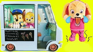 Paw Patrol Ice Cream Truck Refrigerator Fridge Shopping PJ Pig Masks Toddlers Learning Kids Rocks!