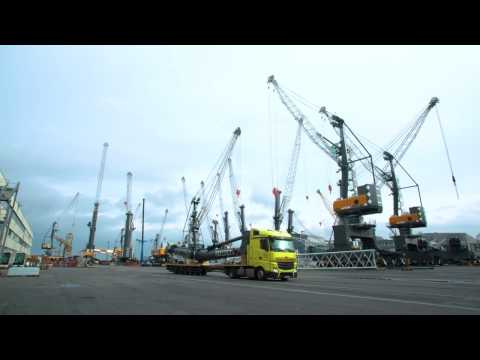 Liebherr – LHM 180 Road Transportation from Germany to Croatia
