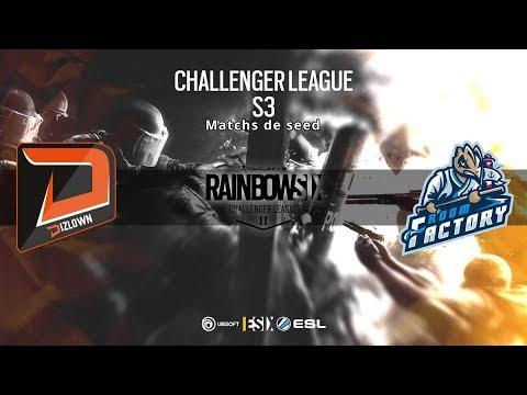 [R6S] Match de seed ESL Challenger League S1 2018 :  dizLown vs ROOM FACTORY