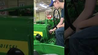 John Deere 720 Pony motor cold start