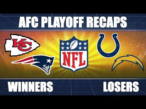 Chargers vs. Patriots & Colts vs. Chiefs: AFC Playoff RECAP