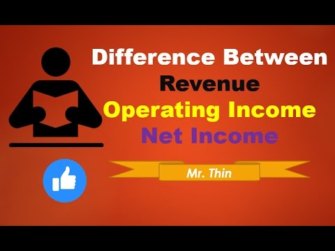 Difference Between Revenue | Operating  Income and Net Income