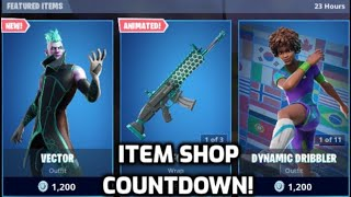*New* Fortnite Vector Skin! (Item Shop Countdown Live)