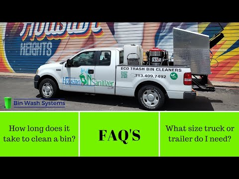 Trash Bin Cleaning Equipment FAQ's #2  - Build Your Own Trash Bin Cleaner With Bin Wash Systems