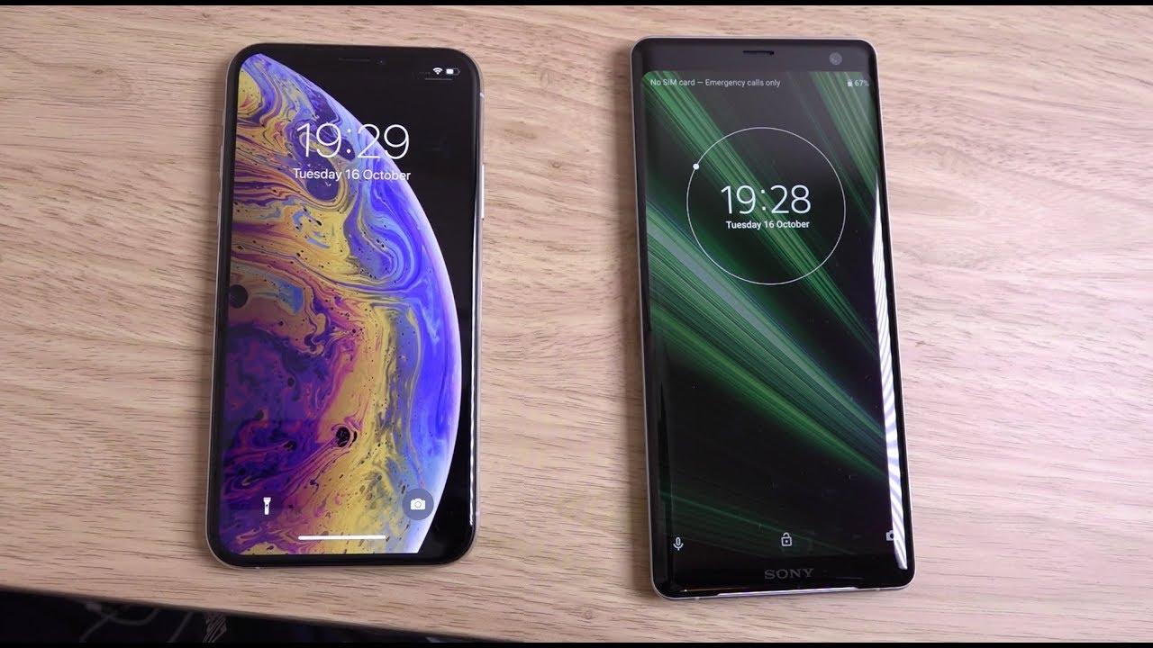 XZ3 có kích thước dàihơn hẳn so với iPhone XS