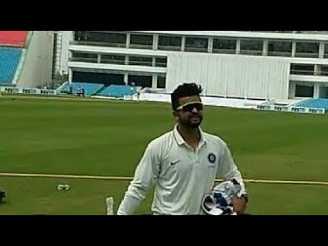 Suresh Raina at ekana international cricket stadium, lucknow