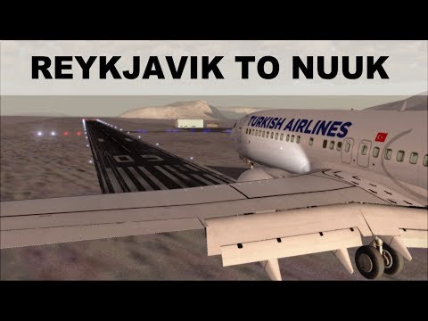 [FSX] FLIGHT SIMULATOR 2017 | REYKJAVIK TO NUUK | TAKEOFF AND LANDING B737 | IVAO LIVE STREAM
