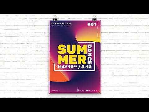 Summer Poster Using the Blend Tool in Adobe Illustrator - Adobe Illustrator Tutorial thumbnail