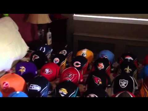 NFL Hat Collection - YouTube e45a9362eb6