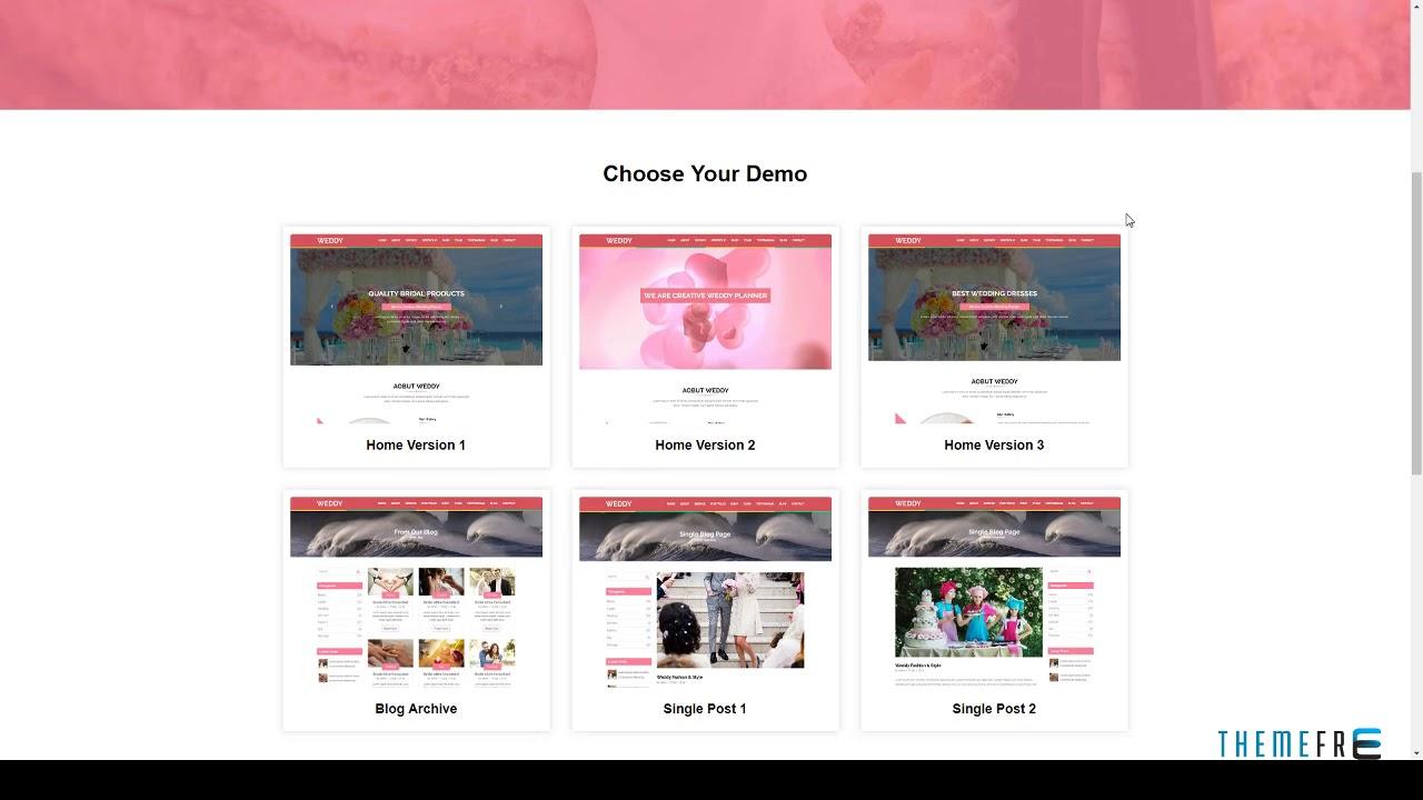 Weddy Wedding Planner Website Template Free Template Lorn YouTube