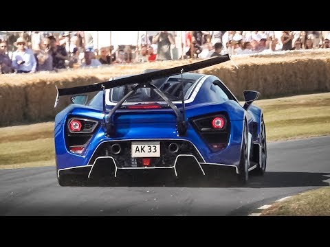 Zenvo TSR-S: Accelerations & Twin Supercharged V8 Sound
