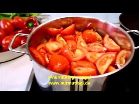 Kışlık Konservelerden Domates sosu tarifi, konserve domates sosu yapılışı burda,  Nurmutfagi NurGüL