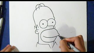 como desenhar o Homer Simpson