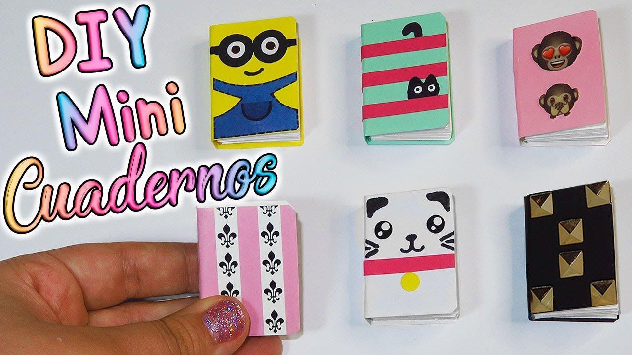 Portadas Para Decorar Cuadernos Libretas Y Agendas: DIY: 6 Mini Cuadernos/Libretas