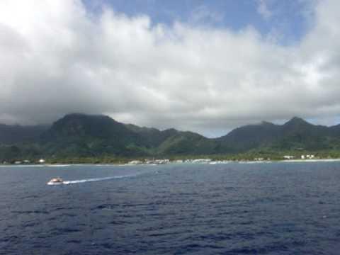 Papeete from Sea - Tahiti  (French Polynesia)