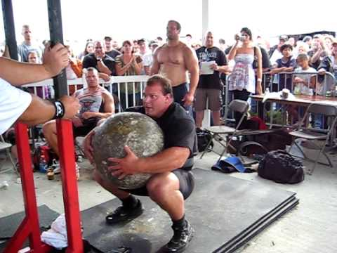 "Derek Poundstone 380lb stone load at 70"" attempt at ...Derek Poundstone Age"