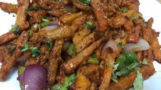 chilli potato || Easy To Make Starter/Appetizer Recipe || by my homemade recipe