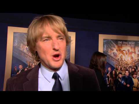 """Night at the Museum: Secret of the Tomb: Owen Wilson """"Jedediah"""" Premiere Interview"""