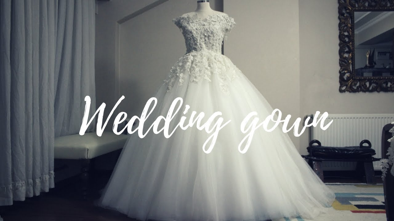 MAKING A WEDDING GOWN | BALL GOWN - YouTube