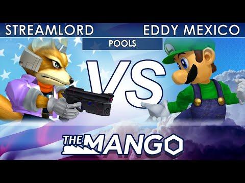 The Mang0 3 - 20XX | Streamlord (Fox) VS LFG | Eddy Mexico (Luigi) - SSBM -Pools