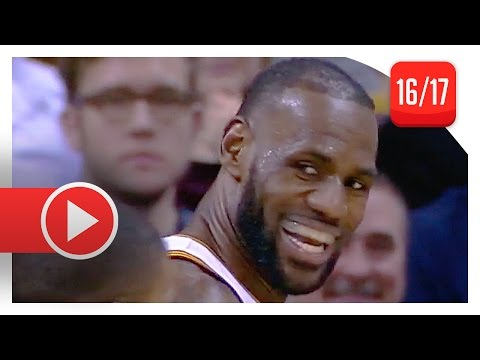 LeBron James Full Highlights vs Jazz (2017.03.16) - 33 Pts, 10 Reb, 6 Ast, BEAST!