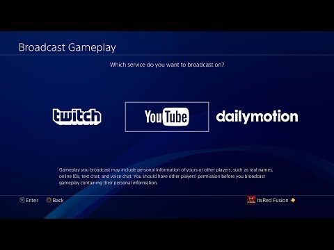 "How to stream on Youtube and Twitch on the ""PS4"