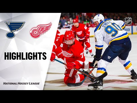 NHL Highlights | Blues @ Red Wings 10/27/19