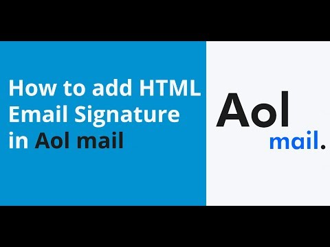 How To Add HTML Email Signature In Aol Mail